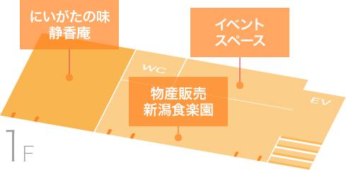 1Fのフロア図