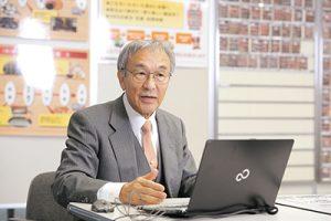 越後製菓株式会社 代表取締役会長 山﨑 彬 氏