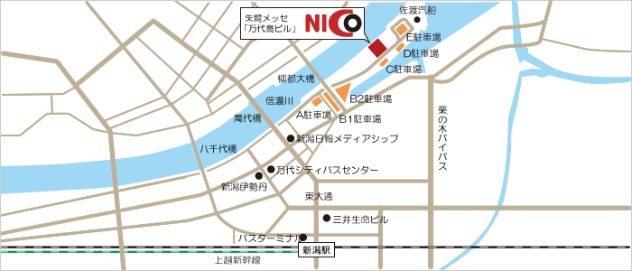 本部・NICOプラザ地図