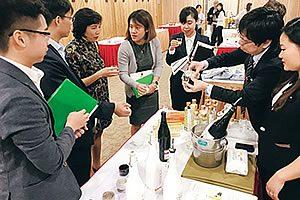 今年開催したベトナム・ハノイでの商談会の様子