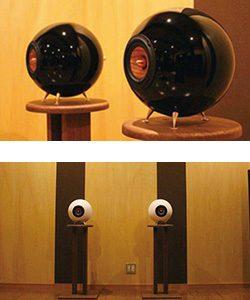 球形木製スピーカー「響」「奏」