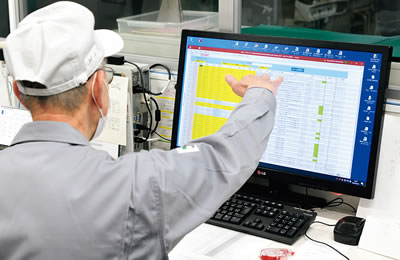 音声入力からクラウドを経由して取り込んだデータを管理画面でチェック
